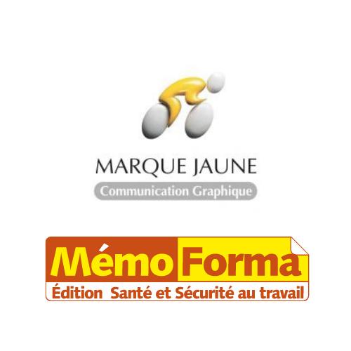 Logo marque jaune memo forma